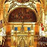 Inside St Louis Cathedral Jackson Square French Quarter New Orleans Digital Art Poster