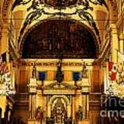 Inside St Louis Cathedral Jackson Square French Quarter New Orleans Fresco Digital Art Poster by Shawn O'Brien
