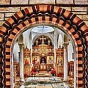 Inside St. Nicholas Chapel At A Greek Monastary In Florence Az Poster