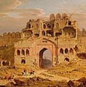 Inside The Main Entrance Of The Purana Qila - Delhi Poster