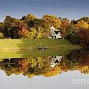 Inspiration Lake In Autumn Poster