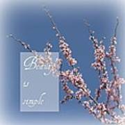 Inspirational Flowering Tree Poster