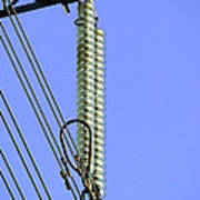 Insulators On An Electricity Pylon Poster by Paul Rapson