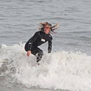 Intense Surfer Poster