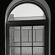 Interior - Windows In Black And White Poster