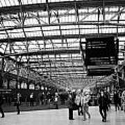 interior of central station Glasgow Scotland UK Poster