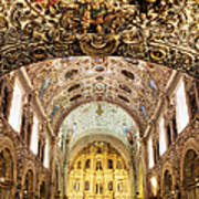 Interior Of The Church Of Santo Domingo Poster by Jeremy Woodhouse