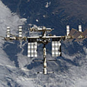 International Space Station Backgropped Poster