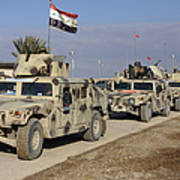 Iraqi Army Soldiers Aboard M1114 Humvee Poster