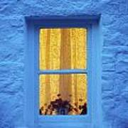 Ireland Cottage Window At Night Poster