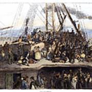 Irish Immigrants, 1850 Poster