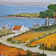 Irish Seaside Village Poster by Siobhan Lawson