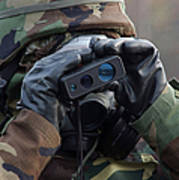 Irman Uses A Range Finder To Determine Poster by Stocktrek Images