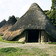 Iron Age Roundhouse Poster by Sheila Terry