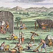 Iroquois Village, 1664 Poster