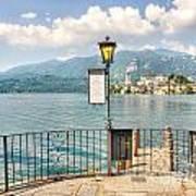 Island San Giulio On Lake Orta Poster