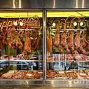 Italian Market Butcher Shop Poster by John Greim