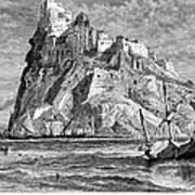 Italy: Castle Of Ischia Poster