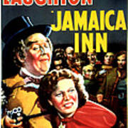 Jamaica Inn, Charles Laughton, Maureen Poster