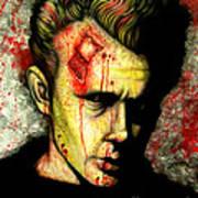 James Dean Zombie Poster