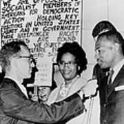 James Meredith And Wife In Front Poster