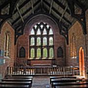 Jamestown Church Interior Poster
