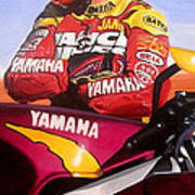 Jamie James - Yamaha Yzf Poster by Jeff Taylor