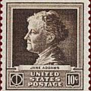 Jane Addams Postage Stamp Poster