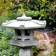 Japanese Garden Stone Snow Lantern Poster