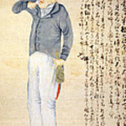 Japanese Print Of An American Sailor Poster