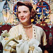 Jean Peters, 1950s Portrait Poster by Everett