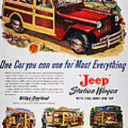 Jeep Station Wagon, 1947 Poster