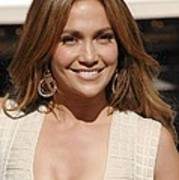 Jennifer Lopez At The Press Conference Poster