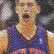 Jeremy Lin Mosaic Poster by Paul Van Scott