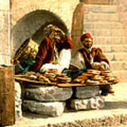 Jerusalem Bread Sellers 1895 Poster