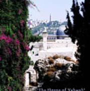 Jerusalem Throne Of Yahweh Poster