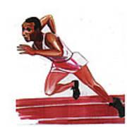 Jesse Owens Poster