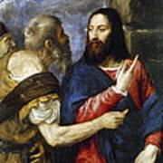 Jesus & Tribute Money Poster