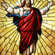 Jesus Christ Stained Glass Poster
