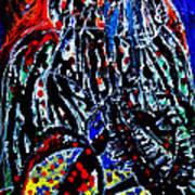 Jesus Meets Mary On Calvary Poster