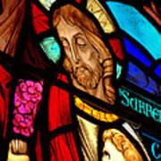 Jesus On Glass Poster
