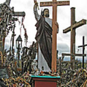 Jesus On The Hill Of Crosses. Lithuania Poster