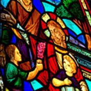 Jesus Stained Glass Poster