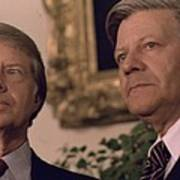 Jimmy Carter Meeting With German Poster by Everett
