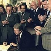 Jimmy Carter Signs Airline Deregulation Poster