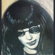 Joey Ramone The Ramones Portrait Poster by Kristi L Randall