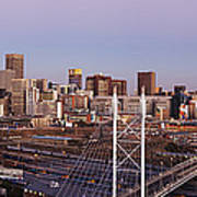 Johannesburg Skyline And Railway Station Poster by Jeremy Woodhouse