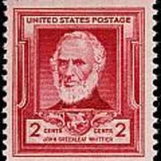 John Greenleaf Whittier Postage Stamp Poster