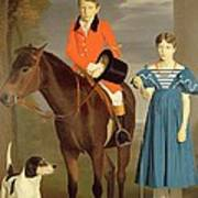 John Gubbins Newton And His Sister Mary Poster