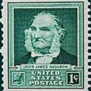 John James Audubon Postage Stamp Poster
